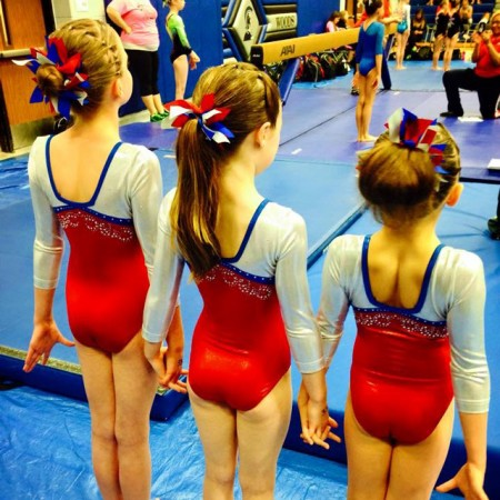 level 8 gymnastics meet videos with american girl dolls