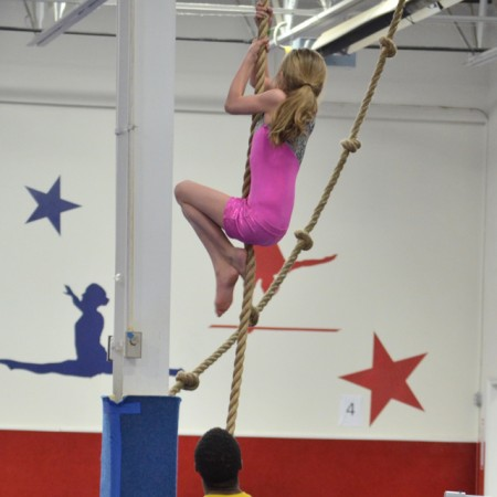 Tumbling and Trampoline at American Gymnastics in Romeo, Michigan